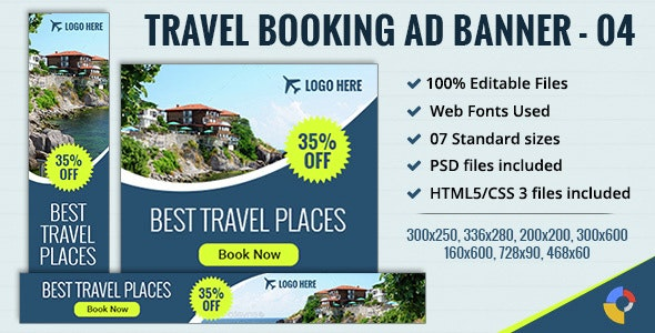 GWD | Travel & Tourism HTML5 Banners - 07 Sizes - CodeCanyon Item for Sale