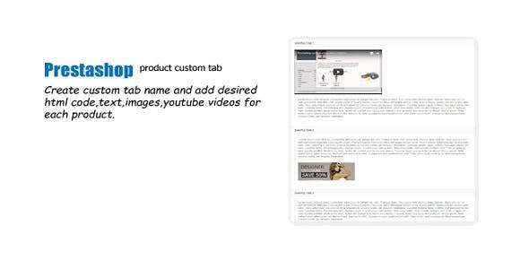 Prestashop Custom Tab Product Module