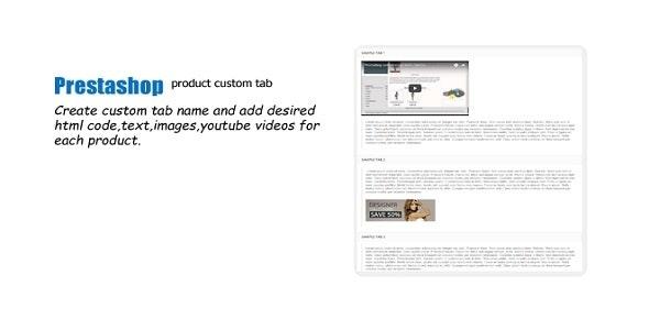 Prestashop Custom Tab Product Module - CodeCanyon Item for Sale