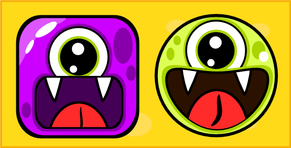 Cute Monsters tic tac toe html5 game