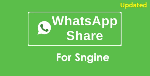 WhatsApp Share Addon For Sngine - CodeCanyon Item for Sale