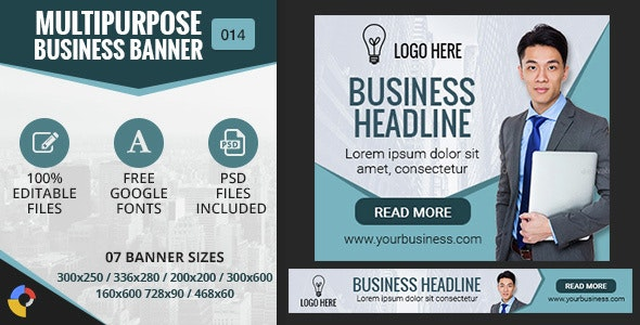 GWD | Multipurpose Business HTML5 Banners - 7 Sizes - CodeCanyon Item for Sale