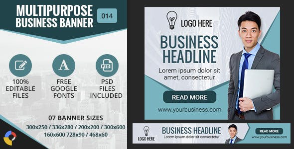 GWD | Multipurpose Business HTML5 Banners - 7 Sizes