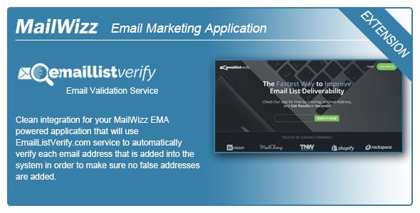 MailWizz EMA integration with EmailListVerify.com