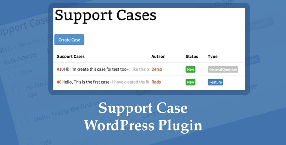 Support Case - WordPress Plugin - CodeCanyon Item for Sale
