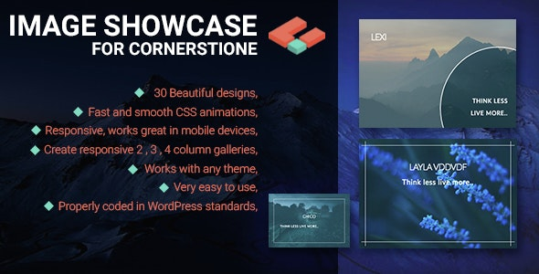 Image Showcase for Cornerstone - CodeCanyon Item for Sale