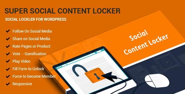 Super Social Content Locker - CodeCanyon Item for Sale