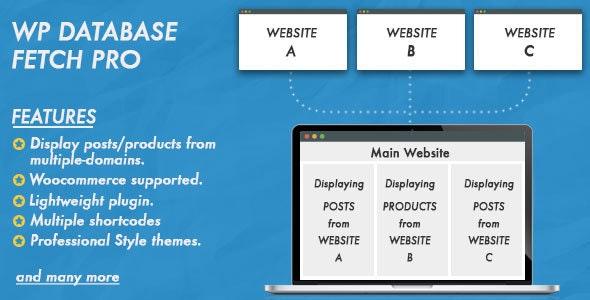 WP Database Fetch Pro - CodeCanyon Item for Sale