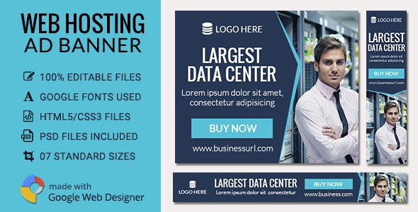 GWD | Web Hosting HTML5 Ad Banners - 07 Sizes - CodeCanyon Item for Sale