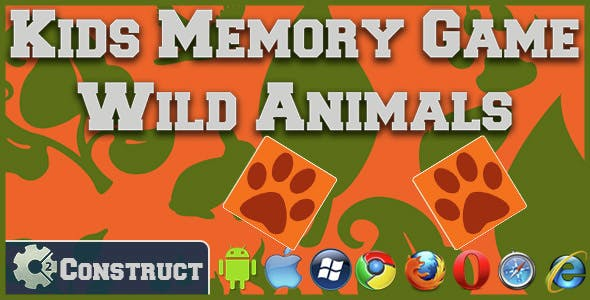Kids Memory Games - Wild Animals