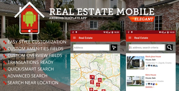 Real Estate Android App - CodeCanyon Item for Sale