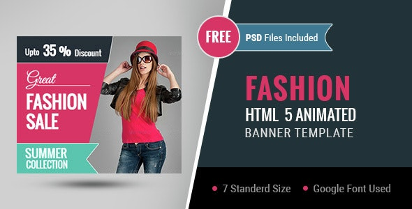 Fashion   HTML5 Google Banner Ad 01 - CodeCanyon Item for Sale