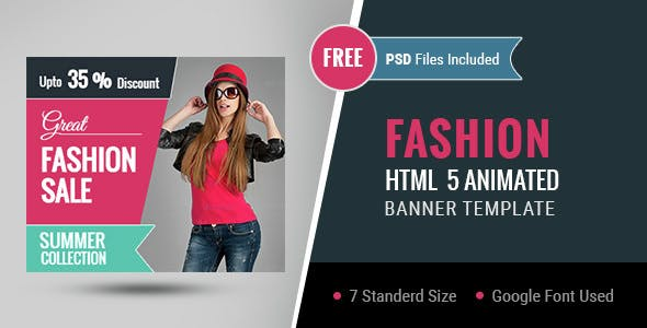 Fashion | HTML5 Google Banner Ad 01