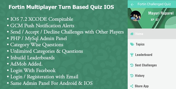 Fortin Quiz -Turned Based Accept/Decline Challenge - IOS - CodeCanyon Item for Sale