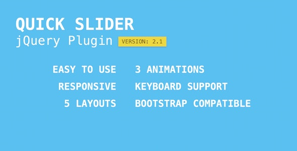 Quick Slider - jQuery Plugin - CodeCanyon Item for Sale