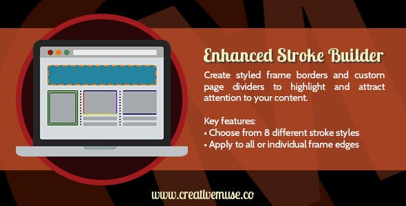Enhanced Stroke Builder Widget for Adobe Muse