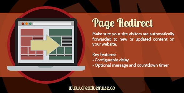 Custom Page Redirect Widget for Adobe Muse