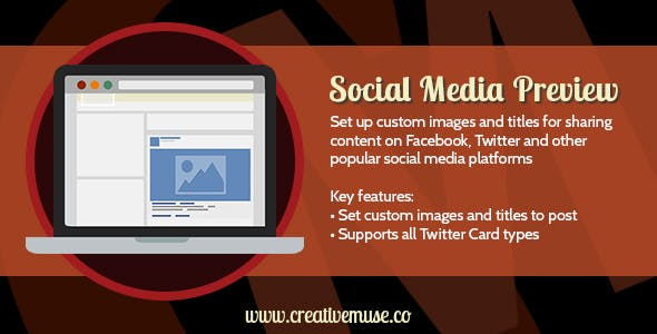 Social Media Preview Widget for Adobe Muse