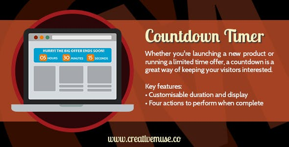 Countdown Timer Muse Widget for Adobe Muse