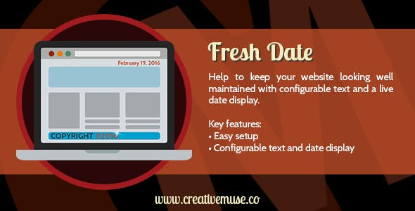 Fresh Date Widget for Adobe Muse