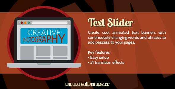 Text Slider Widget for Adobe Muse
