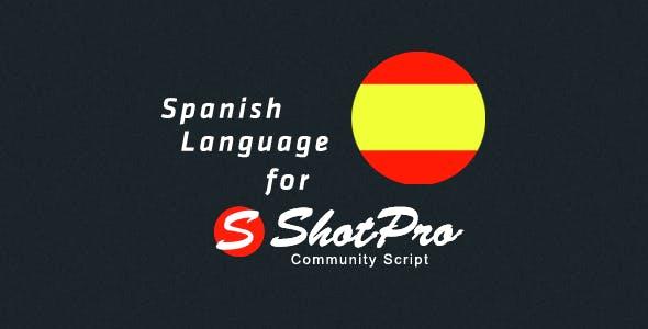 Spanish Language for ShotPro Commnunity Script