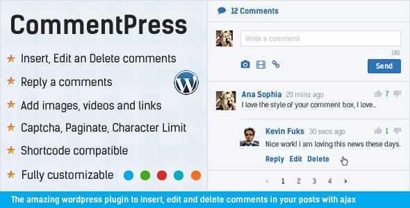 CommentPress - Ajax Comments, Insert, Edit and Delete Comments for WP