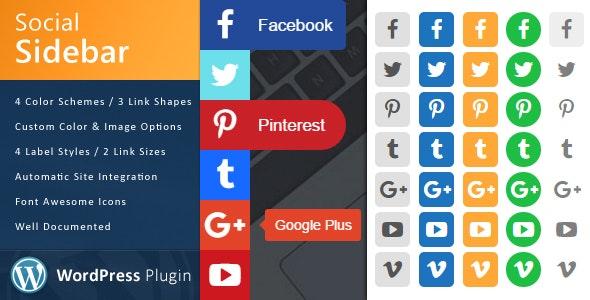 WordPress Social Sidebar - CodeCanyon Item for Sale