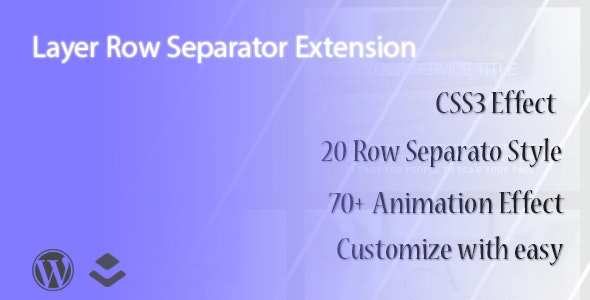 Layer - Row Separator Extension - CodeCanyon Item for Sale