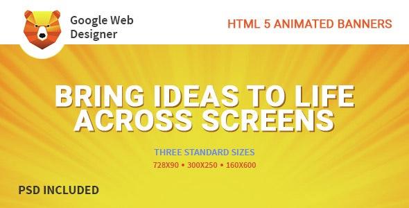 Google Web Design | HTML 5 Animated Banner  - CodeCanyon Item for Sale