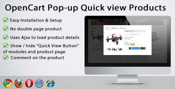 Pop up quick view products - CodeCanyon Item for Sale