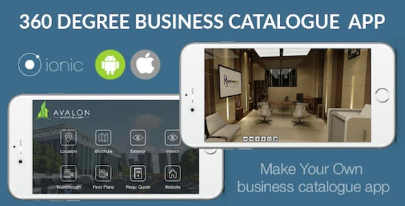 Ionic 3D Catalogue App for iOS & Android