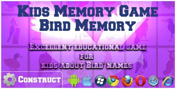 Kids Memory Game – Birds Memory