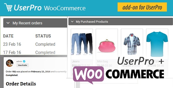WooCommerce integration for UserPro - CodeCanyon Item for Sale