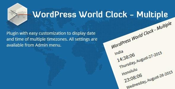 WordPress World Clock – Multiple - CodeCanyon Item for Sale