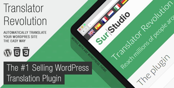 Ajax Translator Revolution WordPress Plugin by SurStudio