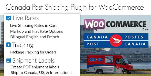 Canada Post WooCommerce Shipping Plugin for Rates, Labels and Tracking - CodeCanyon Item for Sale