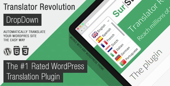 Ajax Translator Revolution DropDown WP Plugin        Nulled