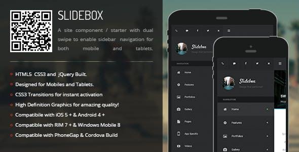 Slidebox | Sidebar Menu for Mobiles & Tablets