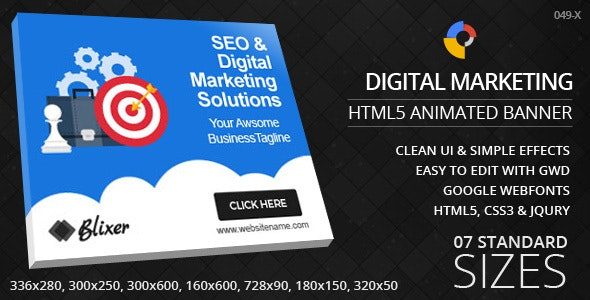 Digital Marketing - HTML5 ad banners - CodeCanyon Item for Sale