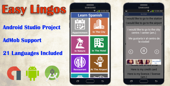 Easy Lingos : Learn Languages (Android App) - CodeCanyon Item for Sale