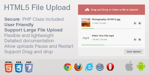 HTML5 File Upload - CodeCanyon Item for Sale