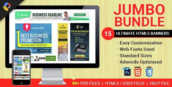 Jumbo Bundle - Collection of HTML5 Animated Banner Templates - CodeCanyon Item for Sale