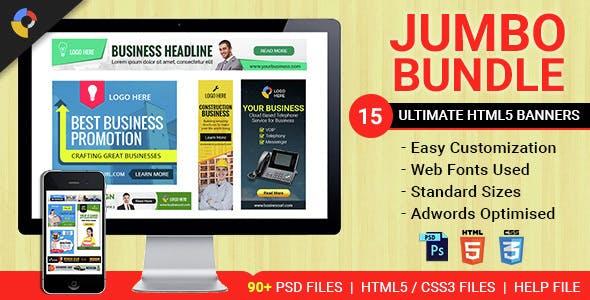 Jumbo Bundle - Collection of HTML5 Animated Banner Templates