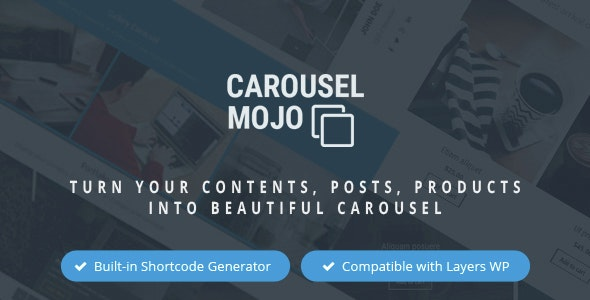 Carousel Mojo - Turn Content into Beautiful Carousel - CodeCanyon Item for Sale