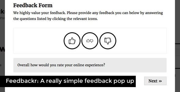 Feedbackr - Really Simple Feedback Popup