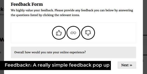 Feedbackr - Really Simple Feedback Popup