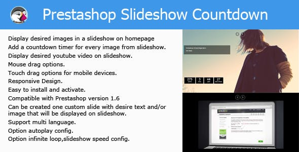 Prestashop Slider Countdown Module