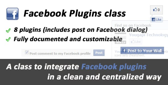 Facebook Plugins and Dialogs class