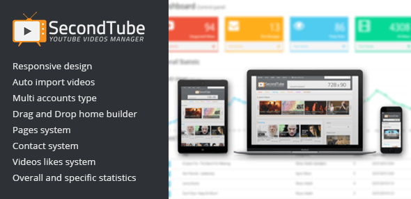 SecondTube - YouTube Videos Manager - CodeCanyon Item for Sale